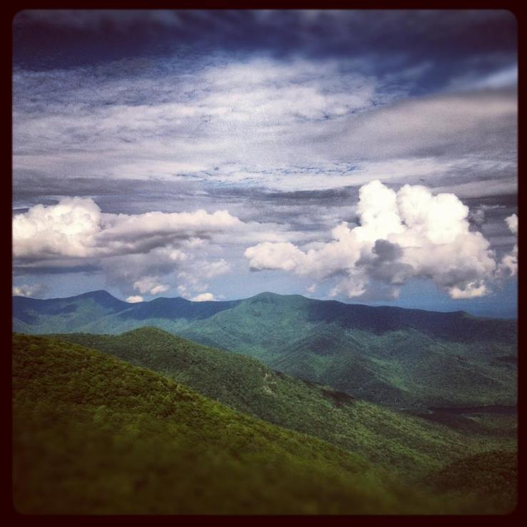 blue ridge mtns july 2012
